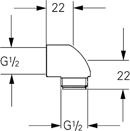 GROHE 45304000/connecteur Coude de sortie chrom/é