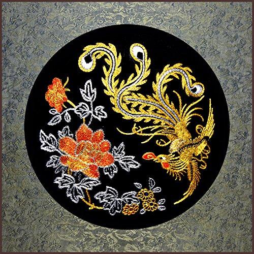 Grace Art, Large Asian Silk Embroidery Art Wall Hanging, Phoenix