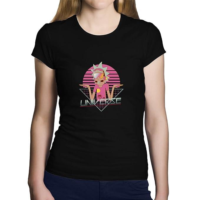 OKAPY Camiseta Rick y Morty. Una Camiseta de Mujer con Rick en Estilo Retro.