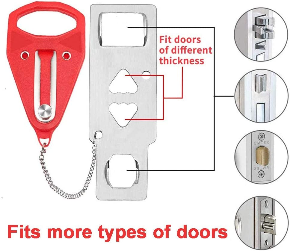 Apartment School Dorm Living Motel Portable Door Lock for Travel and Home Security,Sturdy Self-Defense Door Safety Device for Home Hotel