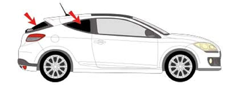 Car Sun Protector Blackout Roller Solarp Lexius, Renault Megane 3-Door 2008Version Gen III 2016