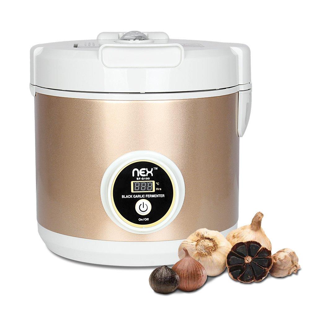 NEX Black Garlic Fermenter Automatic Fermenter - Homemade Organic Whole Black Garlic - Single Clove Garlic
