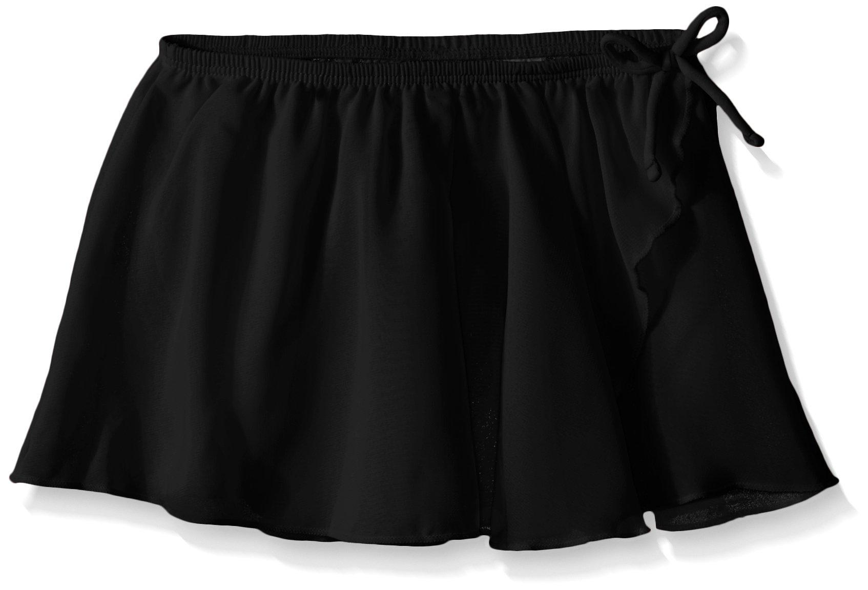Jacques Moret Little Girls Dance Basic Wrap Skirt, Black, Small(6-7)
