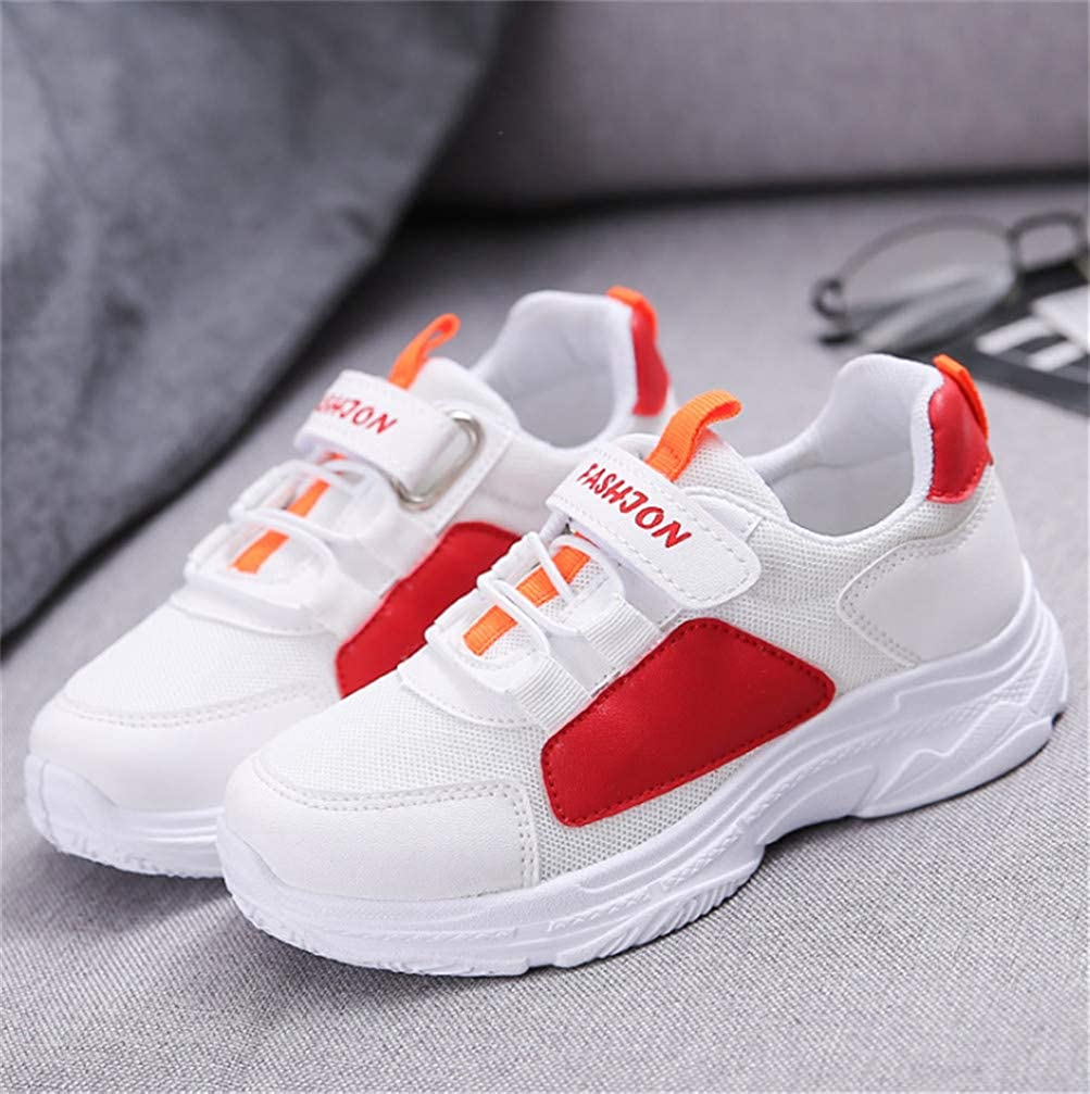 Red 27 Childrens Sneakers Lightweight Casual Sports Tennis Walking Shoes