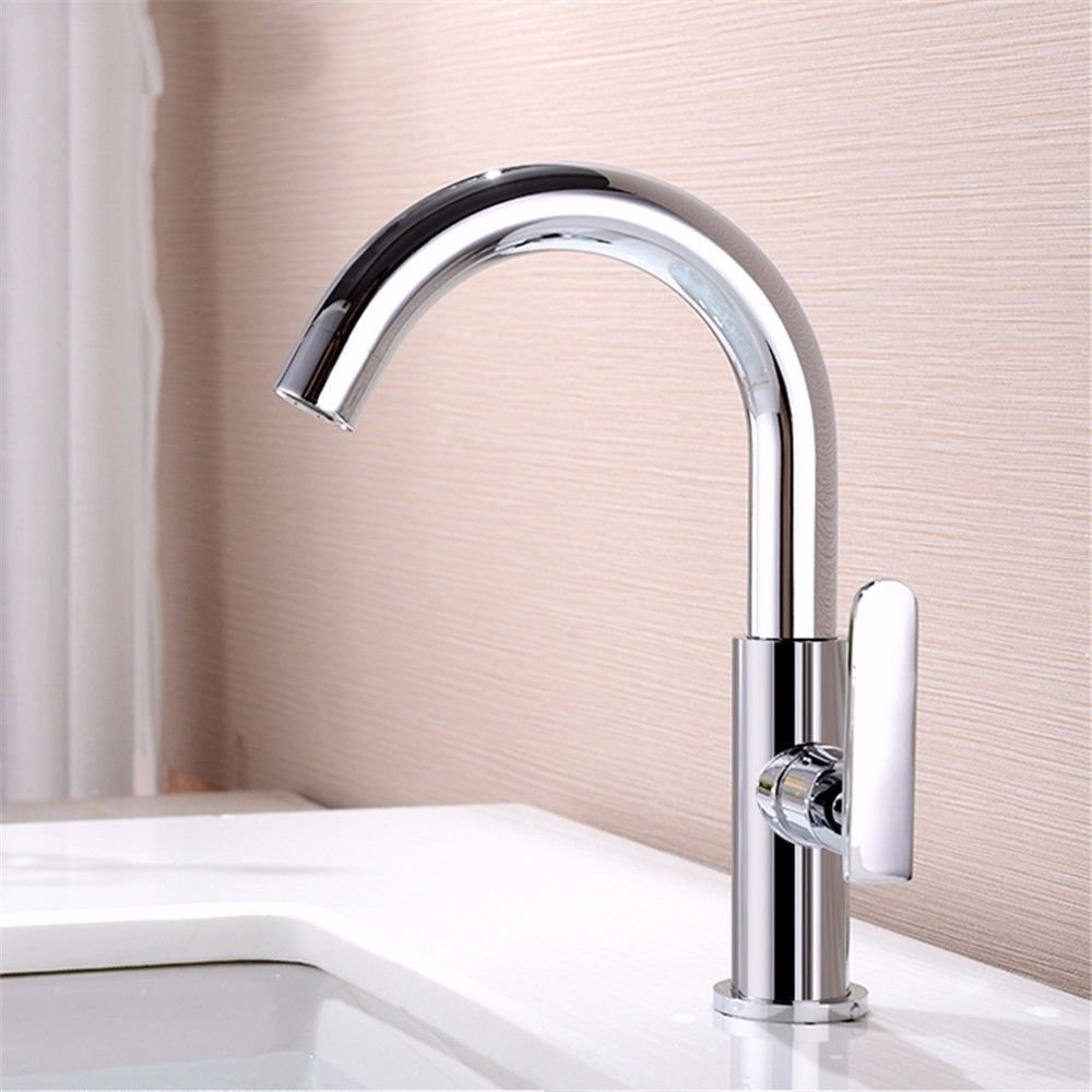 Oudan Basin Mixer Tap Bathroom Sink Faucet To redate the full copper single hole basin single cold water tap washbasin brass bathroom sink Faucet