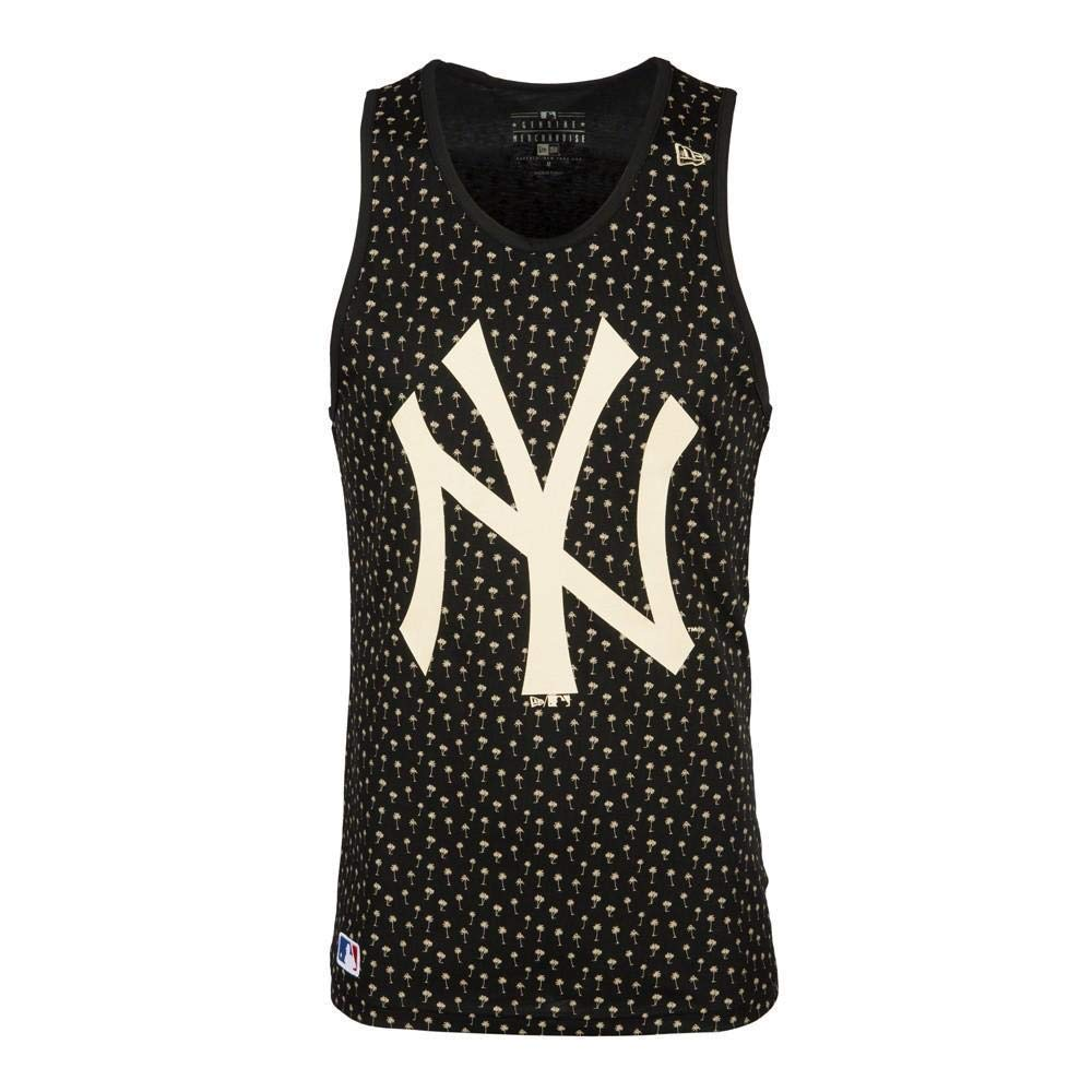 New Era NY Yankees Allover Men s Tank Top Black XXS  Amazon.co.uk  Clothing 23962adf39f5