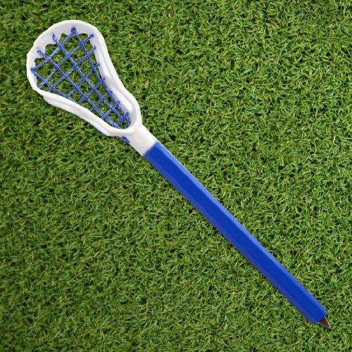 Lacrosse Stick Pen White Head/Blue