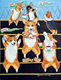 Cheap Caroline's Treasures 7286GF Go Team Corgi Flag, Small, Multicolor
