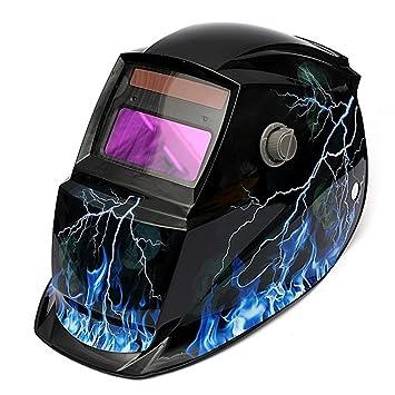 Pro Auto Darkening - Máscara de soldar para casco de soldar, funciona con energía solar, protección de soldadura y molienda: Amazon.es: Bricolaje y ...