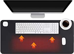 Heat Pads,Electric Heating Pad with 3 Heating Levels & 4 Hours Auto Shut-Off, Mouse Pad, Warm Desk Pad,Extended Edition Gaming Mouse Mat,Foot Warmer Pad,Table Warm Pad