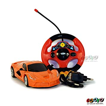 Buy Gooyo Radio Electronic Rc Remote Control Cars Rechargeable Full Function 1 18 Scale Toy Racing Car With Chargeable Battery Toys For Kids Boys Orange Online At Low Prices In India Amazon In