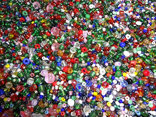 5 Pounds of Assorted Seed Craft Beads - Thousands of Beads - (Bulk Seed Beads)