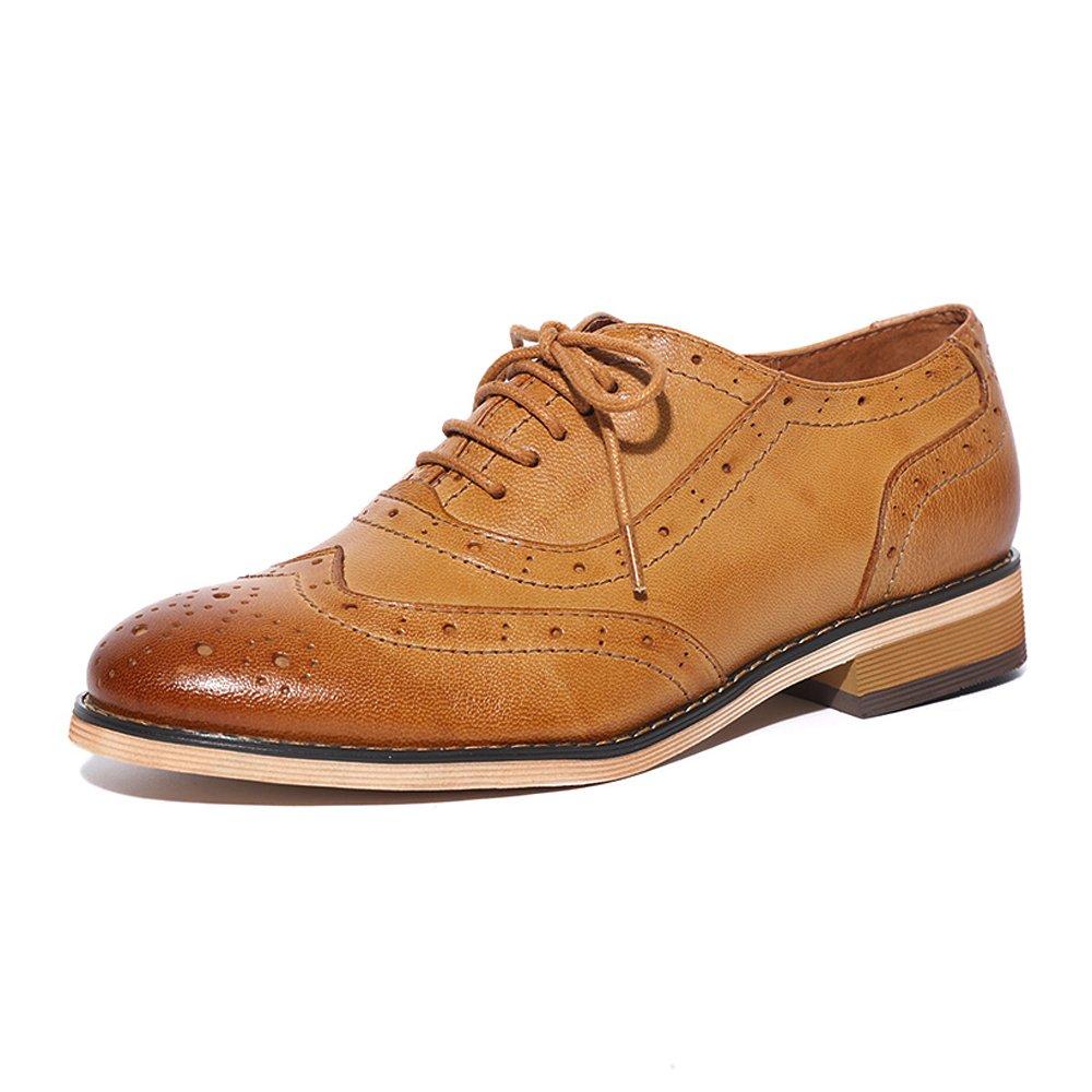 Mona Flying Zapatos Planos con Cordones Mujer 35.5 EU marrón 2