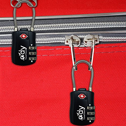 Ody Travel Gear Luggage Locks TSA Approved 2 Pack With Tags>