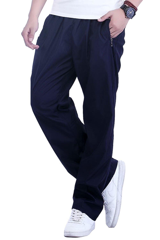Crazy Mens Sports Straight Fleece-Lined Cotton Jogging Sweatpants Pants