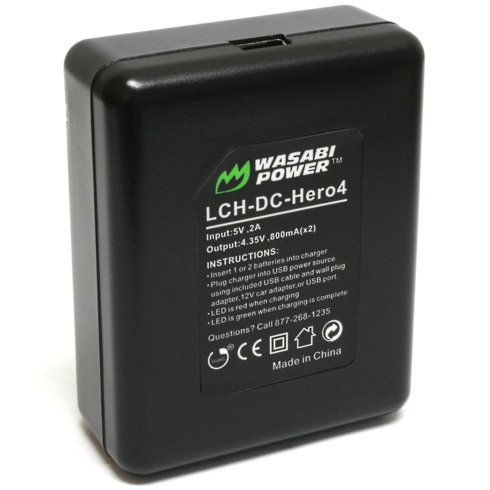 Wasabi Power Battery (2-Pack) and Dual Charger for GoPro HERO4 and GoPro AHDBT-401, AHBBP-401 by Wasabi Power