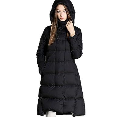 940ea595c23 Oangel Women s Winter Jacket Fashion Hooded Long Puffer Down Coat Parka (S