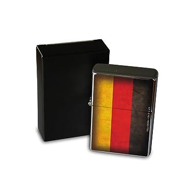 Briquet Chromé Essence Agence Voyage drapeau de l'Allemagne Rarement Imprimé