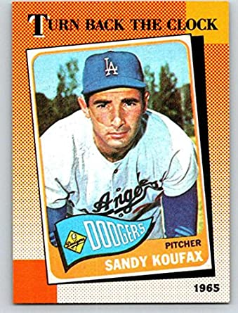 04764909d68 1990 Topps Baseball  665 Sandy Koufax Los Angeles Dodgers TBC Official MLB  Trading Card (