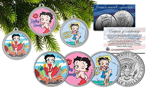 betty-boop-christmas-colorized-jfk-half-dollar-us-3-coin-set-tree-ornaments