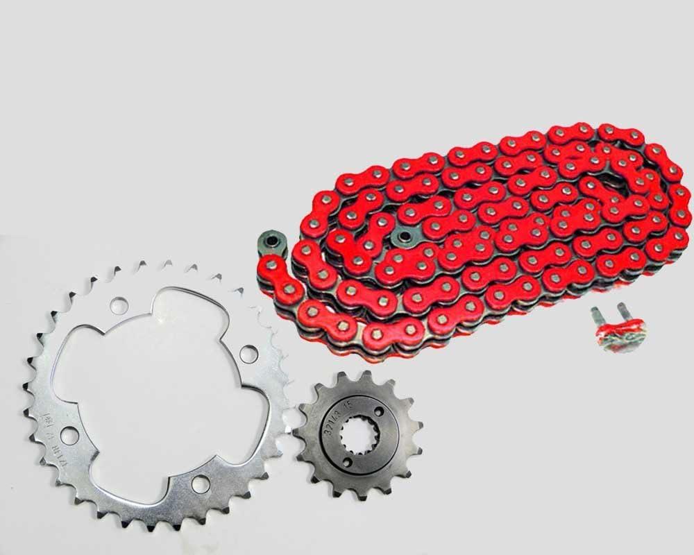 Kettensatz Rot Hrt Ersatzteil Für Kompatibel Mit Yamaha Raptor Yfm 660 R Z 16 38 Auto