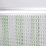 Voilamart Green Silver Aluminium Chain Link Curtain Fly Screen Strip Blinds Bug Blind Keeps out Flies Wasps Pest Insect & Bees, 90x215cm (35'x85')