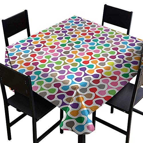 Colorful Tablecloth 4 Seater 54