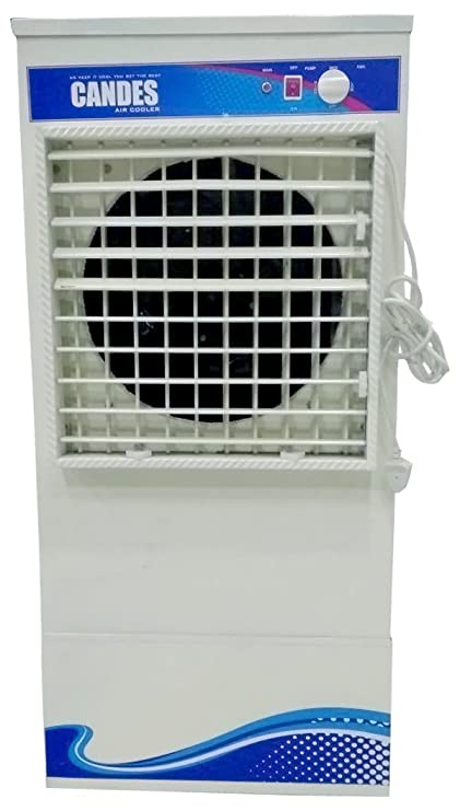 Candes Metal Body Ice Desert Air Cooler with Cooling Chamber(Ivory, 55L)