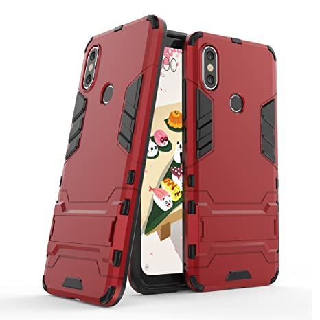 Funda para Xiaomi Mi A2 / Mi 6X (5,99 Pulgadas) 2 en 1 Híbrida Rugged Armor Case Choque Absorción Protección Dual Layer Bumper Carcasa con pata de ...