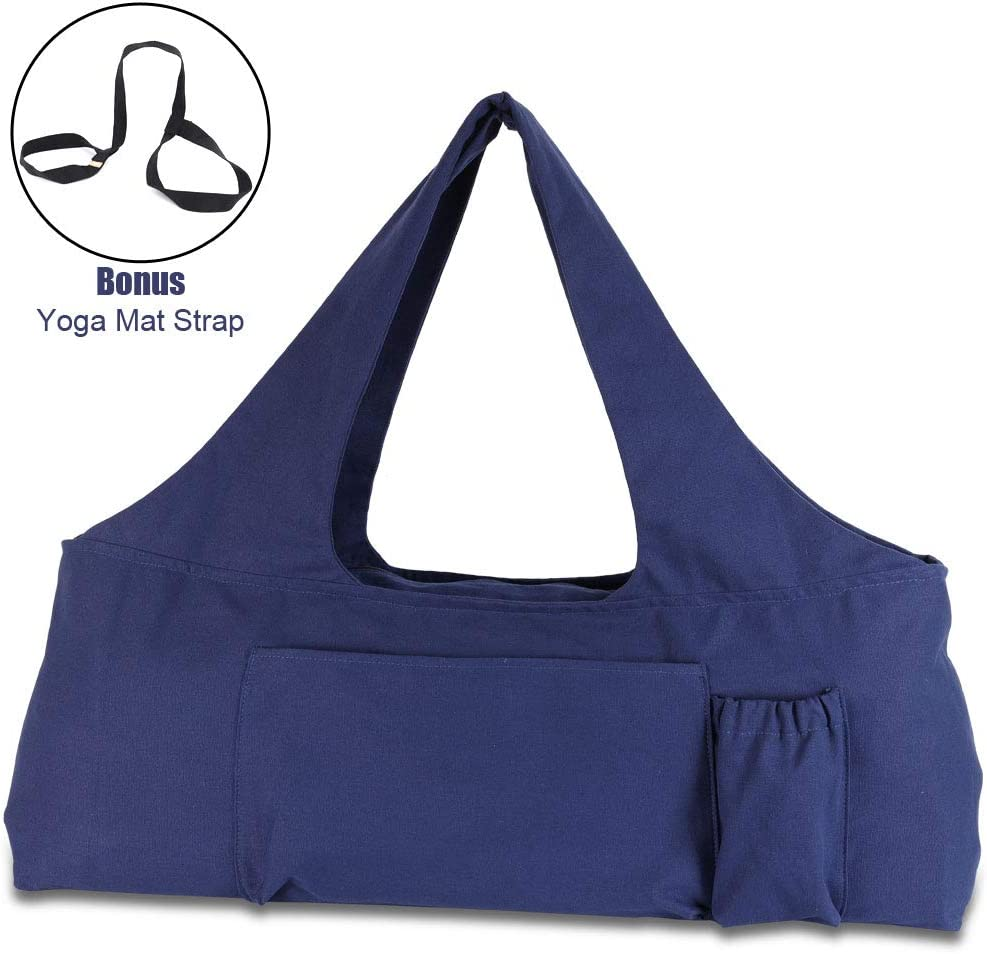 Amazon Com Kuak Yoga Mat Bag Large Yoga Bags And Carriers L30 Xw9 Xh11 With Zipper Closure 5 Multi Functional Pockets Fits Most Size Mats With Yoga Mat Strap Sports Outdoors