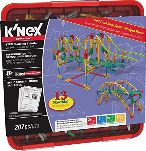 - K'NEX Education – Intro to Structures: Bridges Set – 207 Pieces – For Grades 3-5 Construction Education Toy