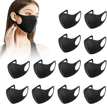 12 Stück Fashion Unisex Wiederverwendbare Und Waschbare Schwarz Erwachsene Baumarkt
