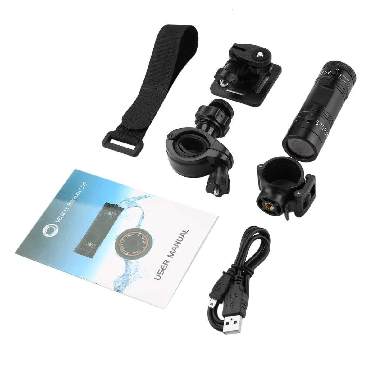 Moliies Cámara Full HD 1080P DV Mini cámara Deportiva a Prueba de Agua Casco Acción DVR Video CAM