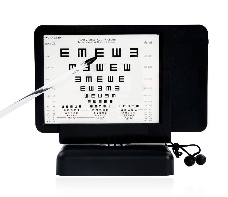 Huanyu Vision Chart Near LED Optical Visual Chart Lamp House Mini Optometry Tester with Ruler E Chart 40cm AC 100-240V (Transverse) by Huanyu (Image #1)