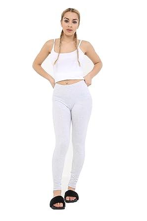5d52fff0f2 Crazy Chick New Women Ladies Full Length Grey Cotton Leggings Active Pants  Sport Trousers UK Size