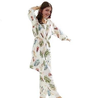 Conjunto De Pijama Mujer Camisola + Cardigan + Pantalones ...
