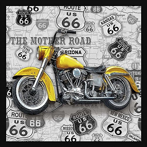 Patriotic Americana Vintage Motorcycles on Route 66-V Jean Plout Art