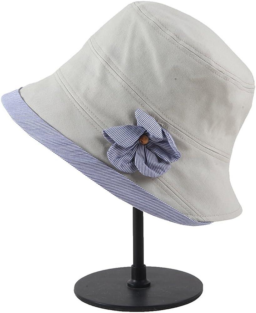 fangkuai Glockenhut f/ür Fr/ühling Sommer Frauen M/ädchen Einfarbig Kontrast Blume Fischerhut Sonnenhut