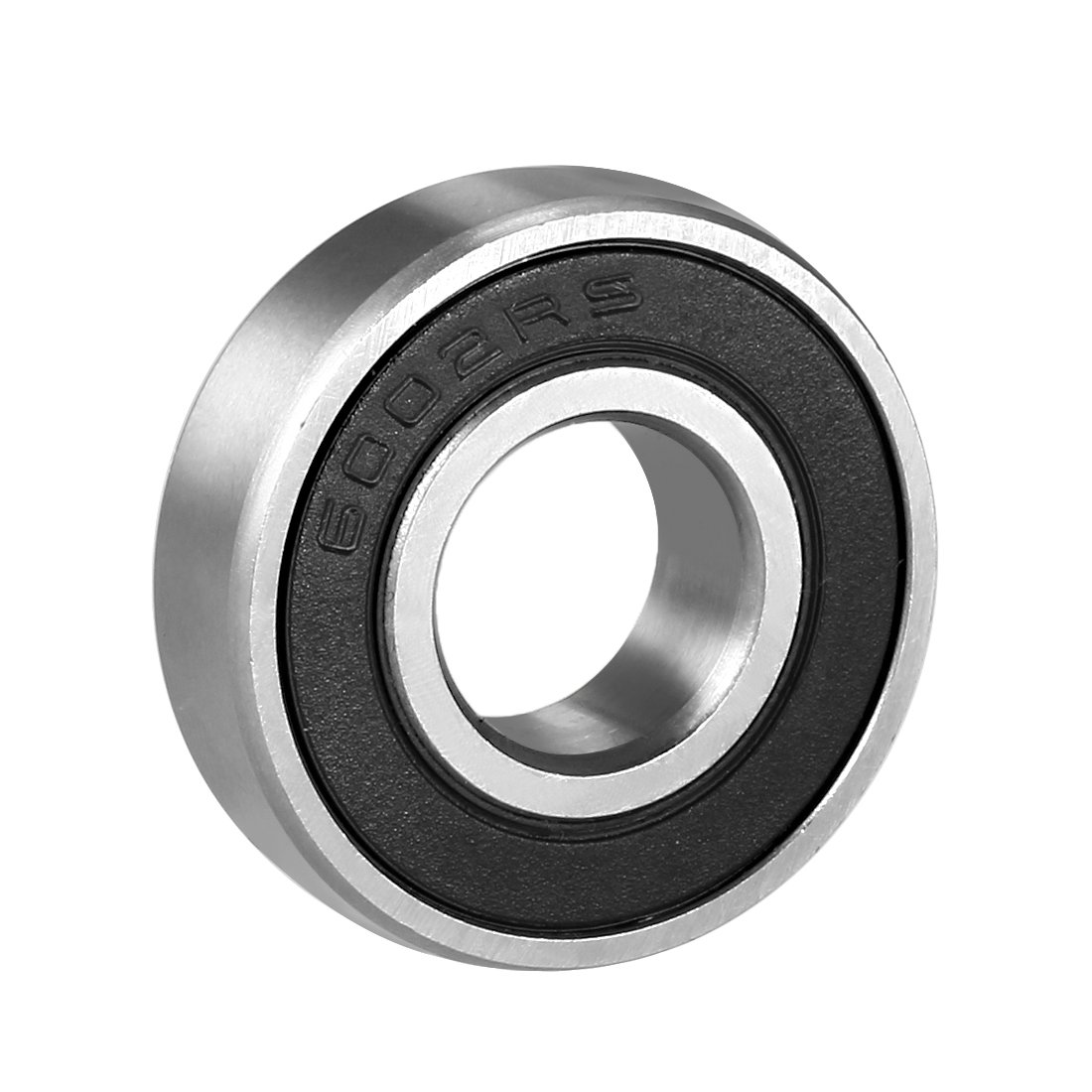 sourcingmap 6002RS Deep Groove Ball Bearing Single Sealed 160102, 15mm x 32mm x 9mm Chrome Steel Bearings (Pack of 1) a18051100ux0052