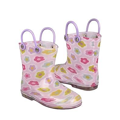 1610645814478 STYLO Botas DE Lluvia para NIÑA Top Moda 521-B CIRCULO Flores 17  Amazon.com.mx   Ropa