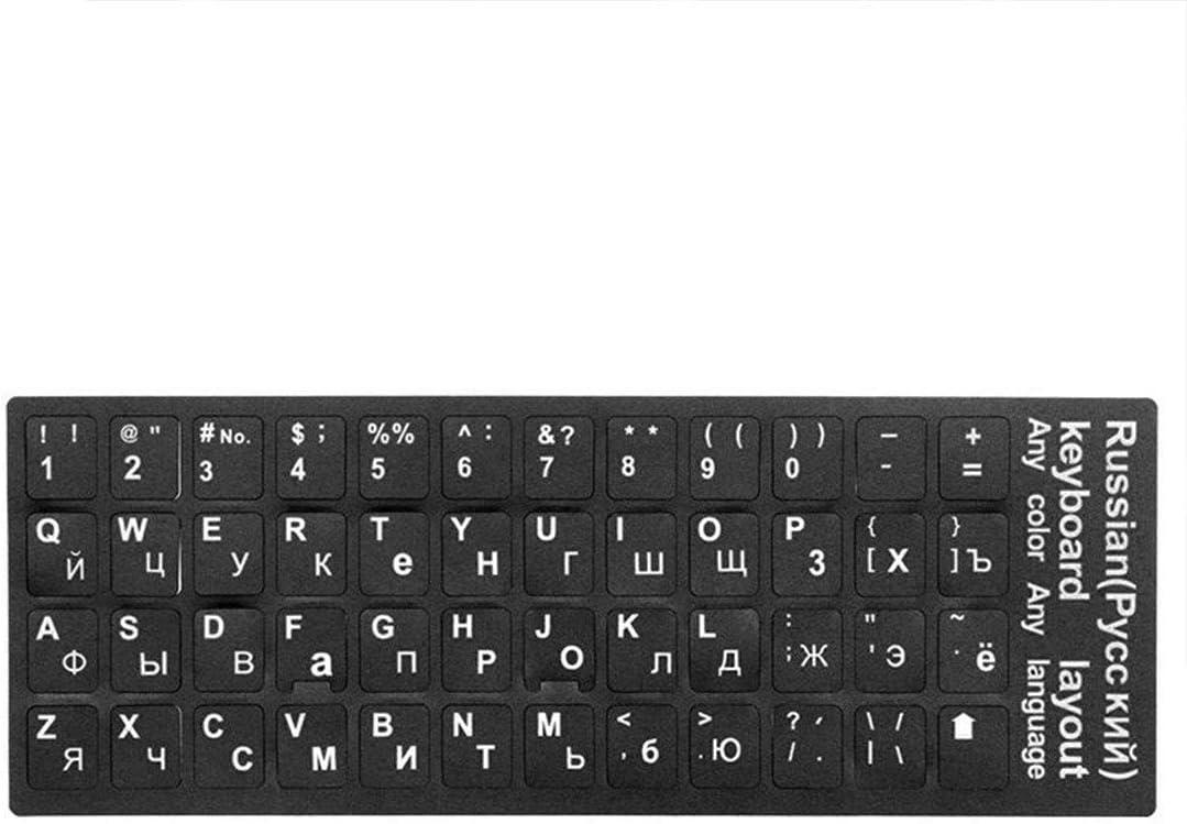 Standard 10to 17 computer letter design keyboard Russian keyboard sticker for Mac Book laptop PC keyboard
