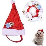Chapeau Chien - Très joli petit Bonnet de Noël pour Chat ou petit Chien,circonférence du cou: 25cm