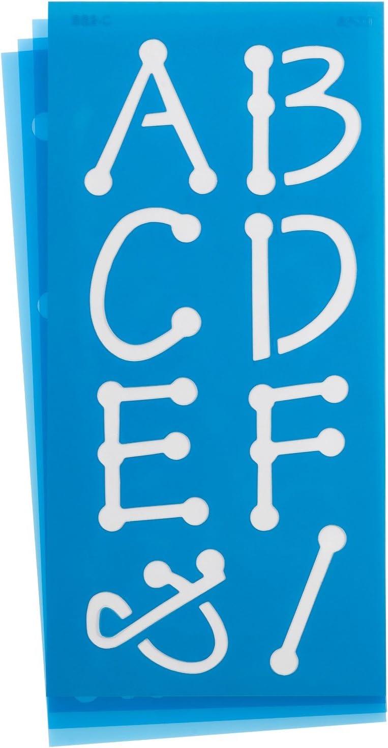 Marker Font Westcott LetterCraft Stencil 2-Inch Characters SM2//15836