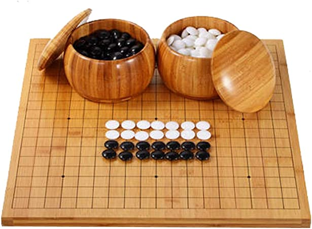 Ding Go Game Set, Solid Wood Go Board Incluye Bowls and Stones Juego de Mesa de Estrategia Chino clásico for Principiantes: Amazon.es: Hogar