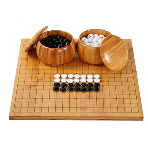 LYQZ Go Game Set, Solid Wood Go Board Incluye Bowls and Stones ...