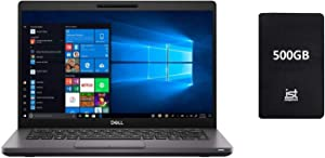 "2020 DELL Latitude 5000 5400 14"" Full HD FHD (1920x1080) Business Laptop (Intel Quad-Core i7-8665U, 32GB DDR4 RAM, 1TB SSD) Backlit, Type-C Thunderbolt 3, RJ-45, HDMI, Windows 10 Pro+ IST 500GB"