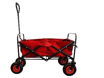 Extrem MAXOfit® Faltbarer Bollerwagen mit Luftreifen, Schutzhülle und MU08