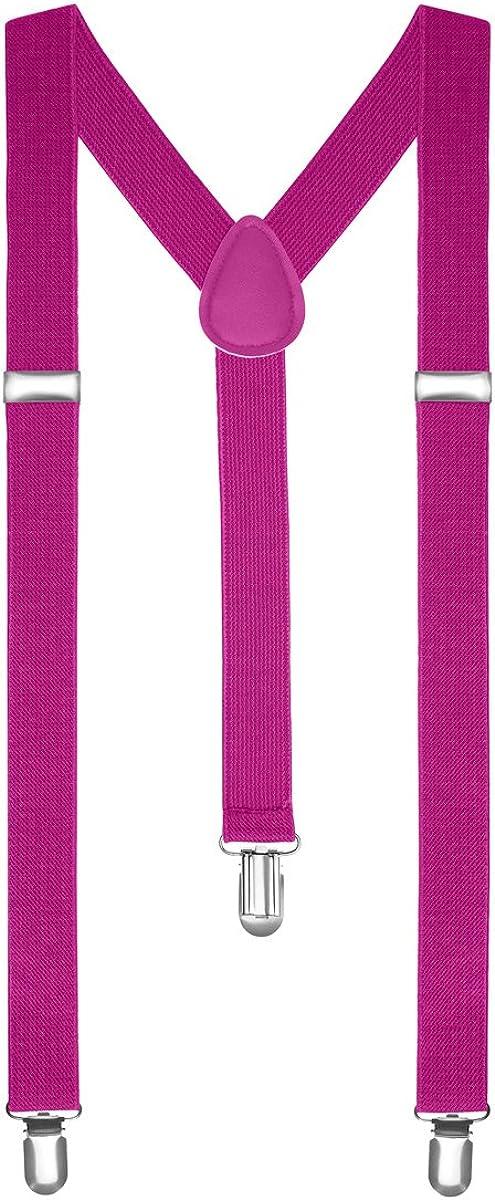 Autiga/® Hosentr/äger Herren Damen Hosen Tr/äger Y Form Style Clips Schmal Neon Bunt Farbig