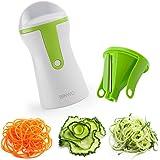 ビンウォー(BINWO)最新版ベジヌードルカッター 多機能野菜調理器 野菜カッター グリーン 鋼製なプレード スパイラル千切り器 …