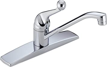 Delta Faucet 100lf Wf Classic Single Handle Kitchen Faucet Chrome